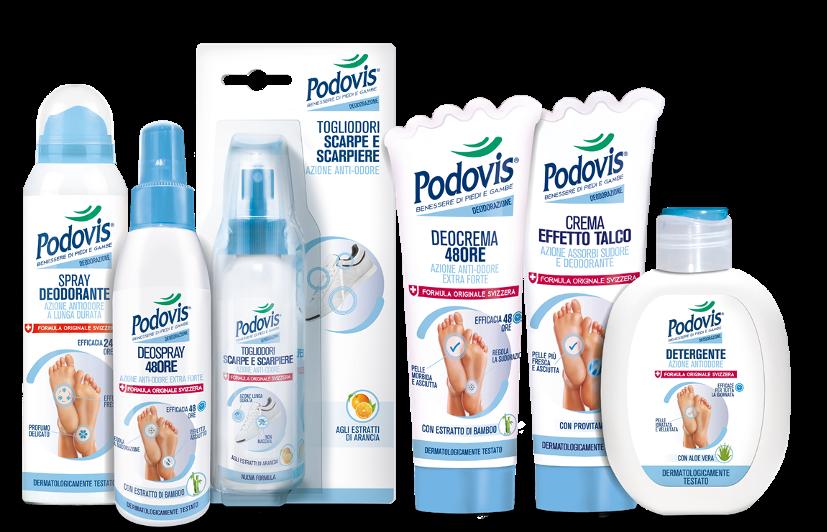 Podovis: prodotti deodoranti per i piedi